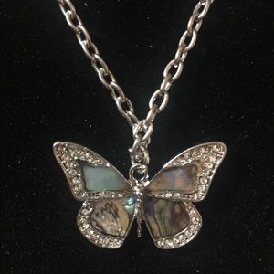 Shell butterfly necklace